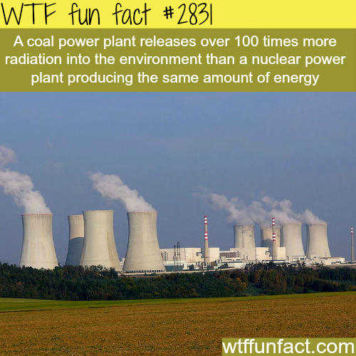 Coal power plant VS nuclear power -WTF fun facts