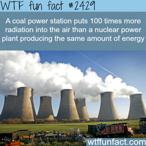 Coal power station VS nuclear power plant - WTF fun facts