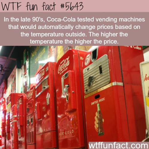 Coca Cola vending machine - WTF fun fact