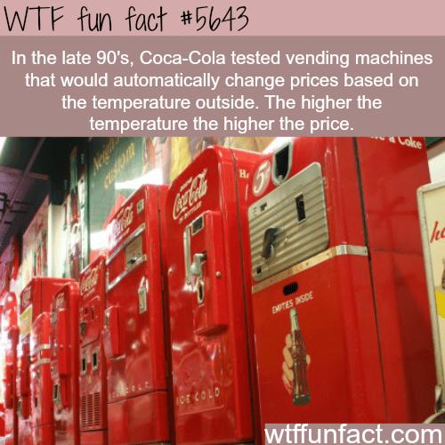 Coca Cola vending machine - WTF fun fact