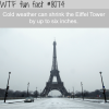 cold weather shrinks the eiffel tower wtf fun