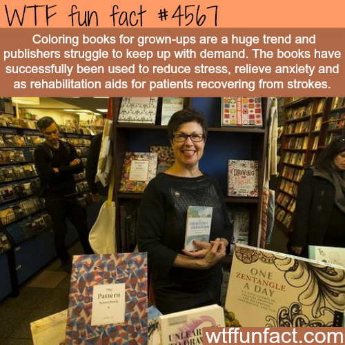 Coloring books for the adults -   WTF fun facts