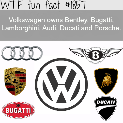 Companies owned by Volkswagen -WTF fun facts