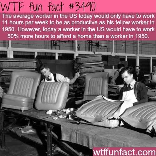 Comparing life in the 1950 and today -  WTF fun facts