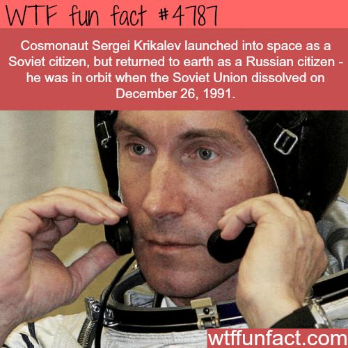 Cosmonaut Sergei Kirkalev - WTF fun facts