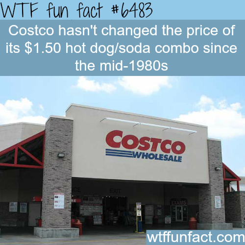 Costco's hot dogs price haven't changed for 30 years - WTF fun facts