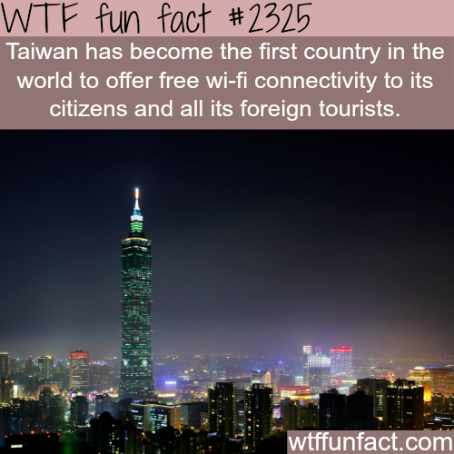 Countries with free wifi - WTF fun facts