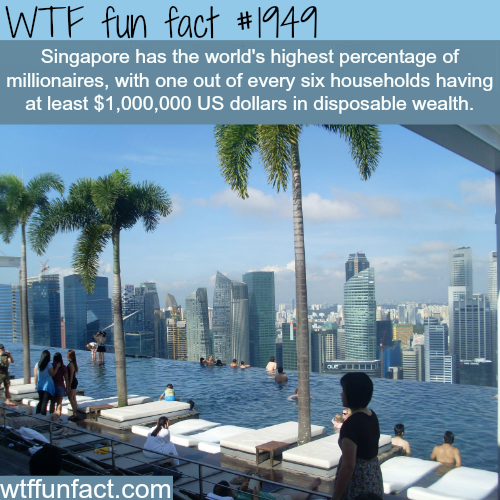 Countries with the most millionaires - WTF fun facts