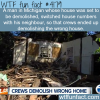 crews demolish wrong house in michigan