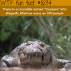 crocodile who allegedly killed 300 people wtf