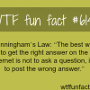 cunninghams law wtf fun facts