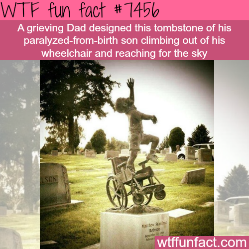 Dad designed a tombstone of his paralyzed son - Facts