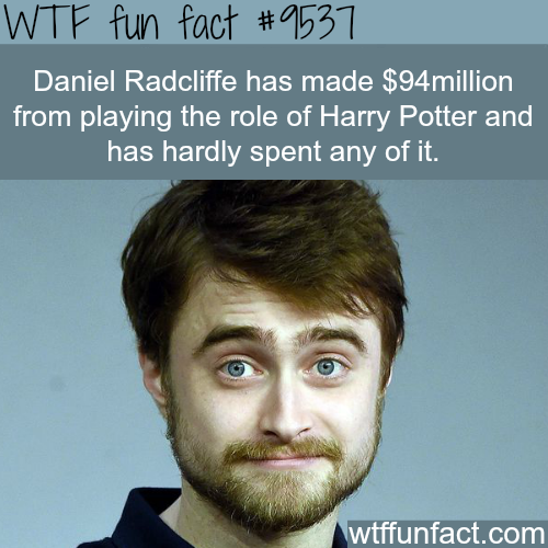 Daniel Radcliffe's Networth - WTF fun fact