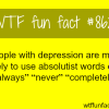 depression wtf fun facts
