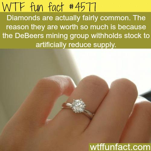 Diamonds are not rare -   WTF fun facts