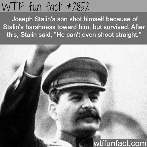 Dictators facts: Joseph Stalin -  WTF fun facts