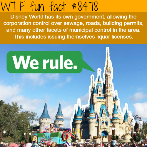 Disney World has it's own government - WTF fun facts