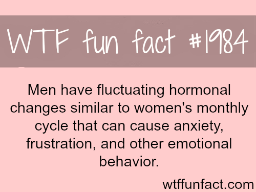 Do men have periods? male menstruation - WTF fun facts