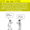 doctors handwriting facts