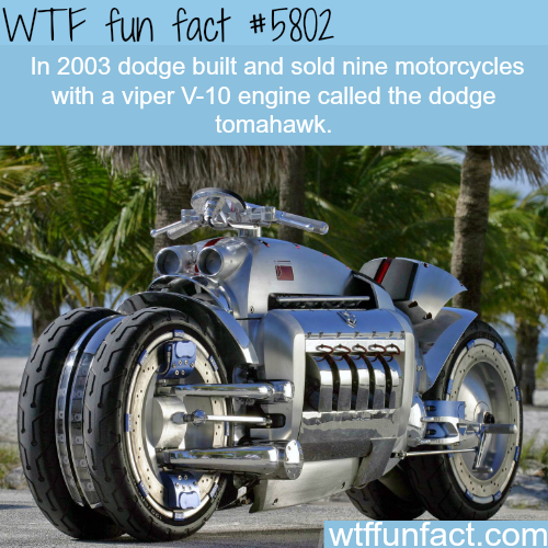 Dodge tomahawk - WTF fun facts