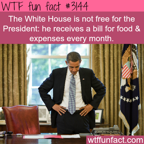 Does the president pay bills in the white house? -  WTF fun facts