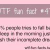 dreaming sleeping facts