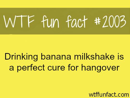 Drinking banana milkshake