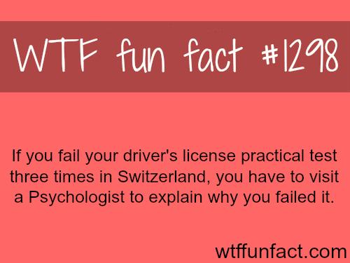 driving test in Switzerland
