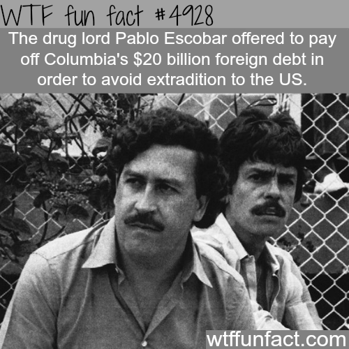 Drug lord Pablo Escobar facts - WTF fun facts