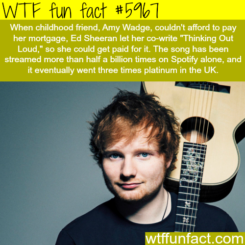 Ed Sheeran - WTF fun facts