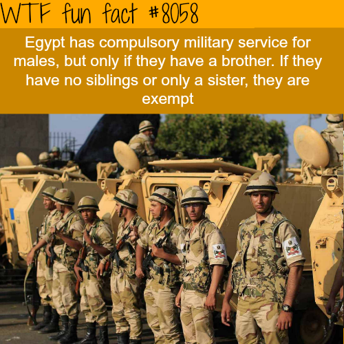 Egypt compulsory military service - WTF fun fact