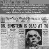 einstein refused surgery