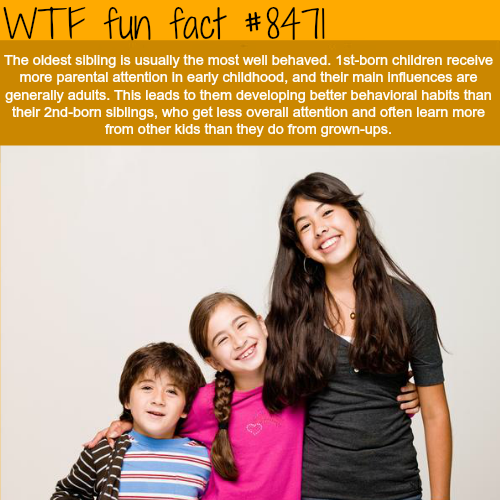 Eldest siblings - WTF fun facts