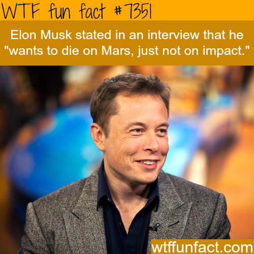 Elon Must wants to die on Mars - WTF fun facts