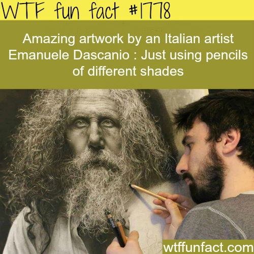Emanuele Dascanio's art work - WTF fun facts