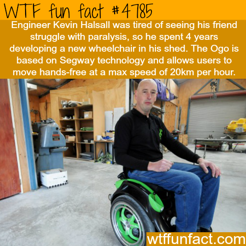 Engineer Kevin Halsall develops a new wheelchair - WTF fun facts