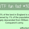england s land is owned by only 1 of the population