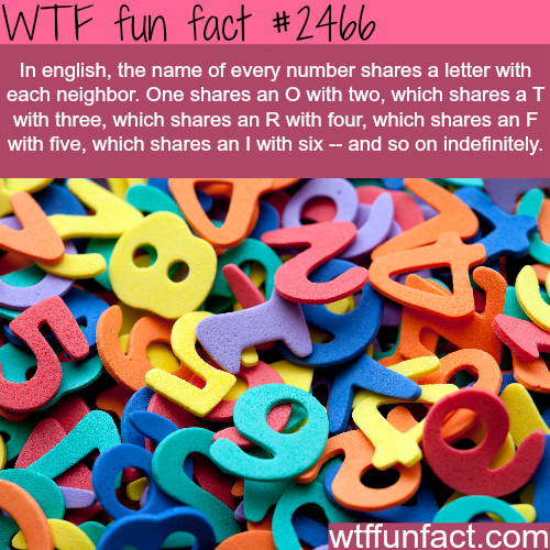 English Name Number - WTF fun facts