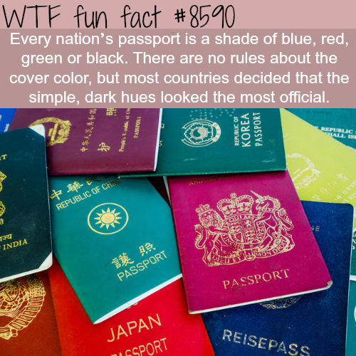 Every countries' passport color is a shade of blue