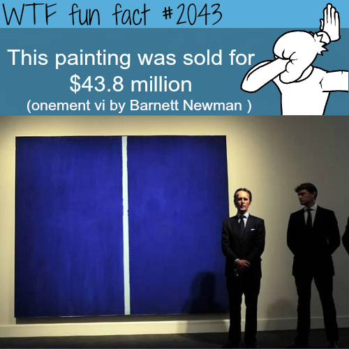 Expensive meaningless painting sold for millions - WTF fun facts
