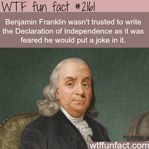 Facts about Benjamin Franklin - WTF fun facts