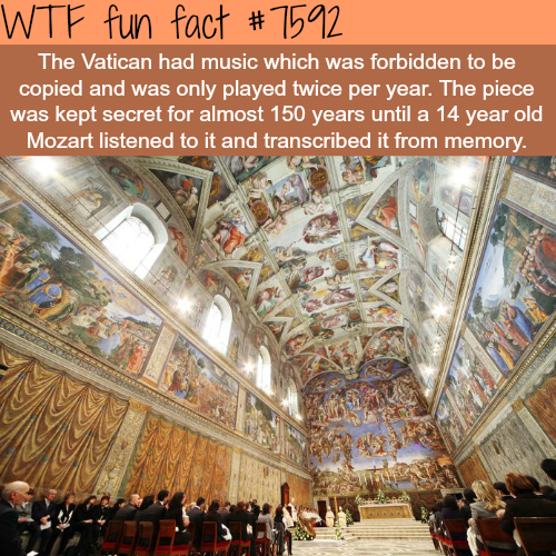 Facts about Mozart - WTF fun fact