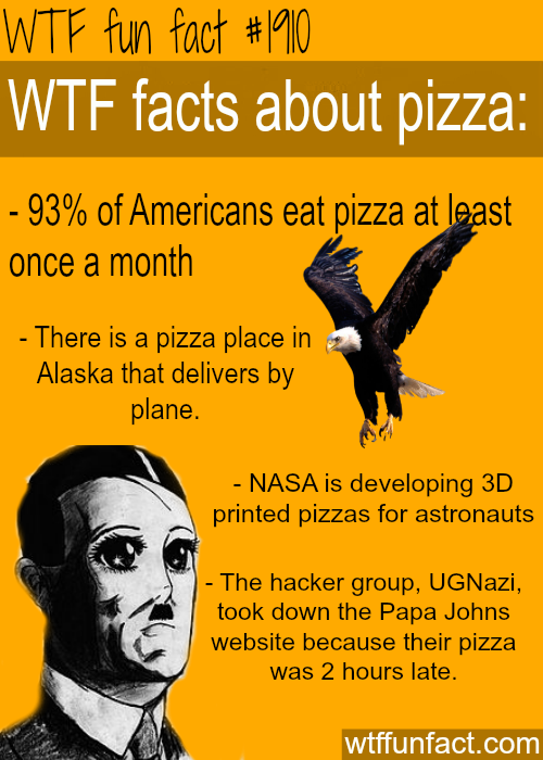 facts about pizza -WTF fun facts