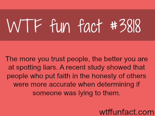 Facts about spotting liars - WTF fun facts