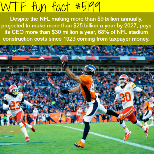 Facts about the NFL - WTF fun facts