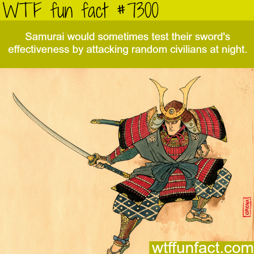 Facts about the Samurai - WTF fun fact