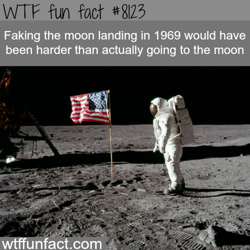 Faking the moon landing - WTF fun facts
