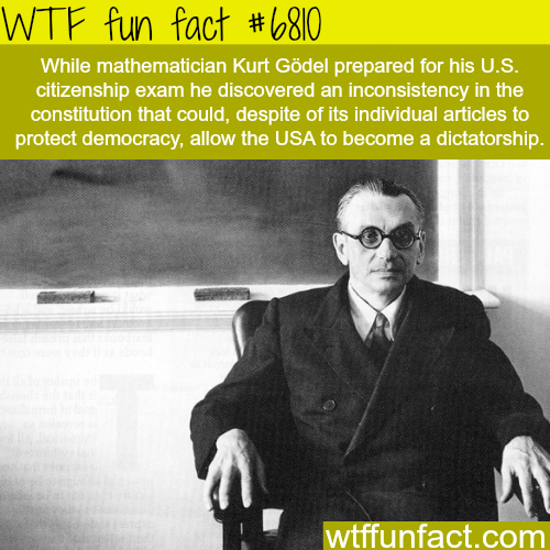 Famous mathematician says the USA can turn into a dictatorship - WTF fun fact