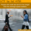 fast walkers live longer wtf fun facts