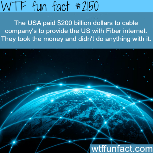 Fiber internet - WTF fun facts